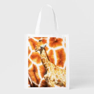 Baby Giraffe Reusable Grocery Bag