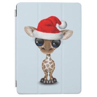 Baby Giraffe Wearing a Santa Hat iPad Air Cover