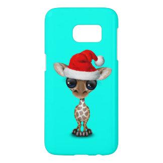 Baby Giraffe Wearing a Santa Hat Samsung Galaxy S7 Case