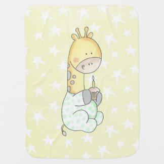 Baby Giraffe With Cupcake Baby Blanket