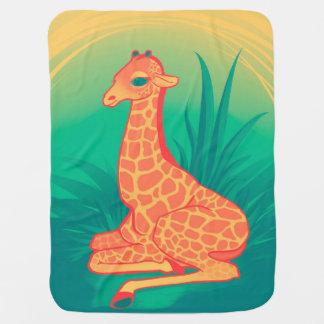 Baby Giraffe Swaddle Blankets
