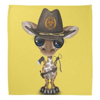 Baby Giraffe Zombie Hunter Bandana
