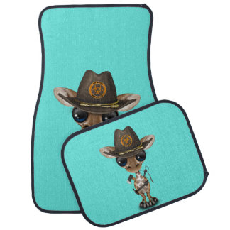 Baby Giraffe Zombie Hunter Car Mat