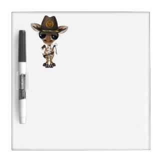 Baby Giraffe Zombie Hunter Dry Erase Board