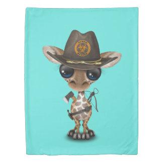 Baby Giraffe Zombie Hunter Duvet Cover