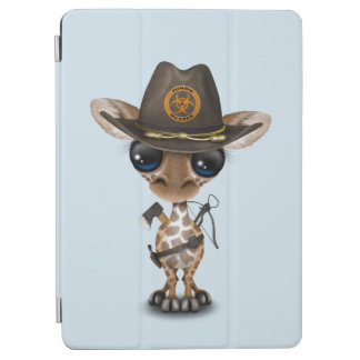 Baby Giraffe Zombie Hunter iPad Air Cover