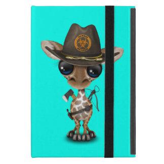 Baby Giraffe Zombie Hunter iPad Mini Cover