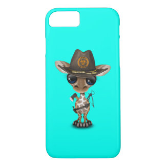 Baby Giraffe Zombie Hunter iPhone 8/7 Case