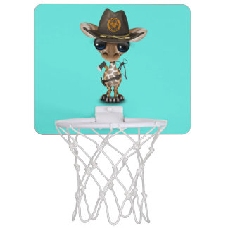 Baby Giraffe Zombie Hunter Mini Basketball Hoop