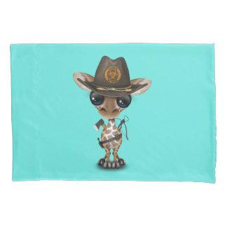 Baby Giraffe Zombie Hunter Pillowcase