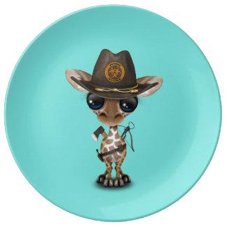 Baby Giraffe Zombie Hunter Plate