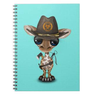 Baby Giraffe Zombie Hunter Spiral Notebook