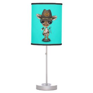 Baby Giraffe Zombie Hunter Table Lamp