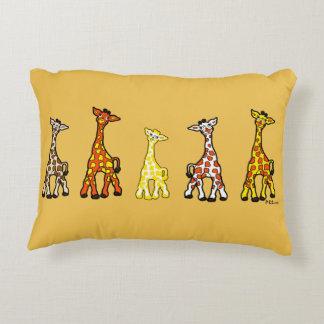 Baby Giraffes In A Row Accent Pillow