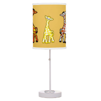 Baby Giraffes In A Row Table Lamp