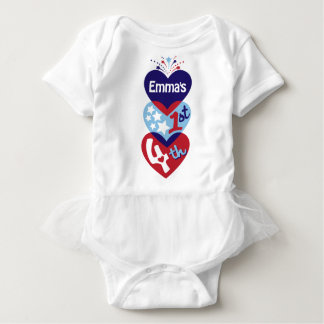 Baby Girl 1st 4th TUTU Bodysuit First 4th of July