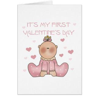 Baby Girl 1st Valentine's Day Card