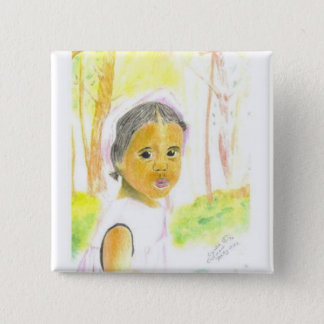 Baby Girl 2 Inch Square Button