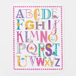 Baby Girl Alphabet Blanket Swaddle Blankets