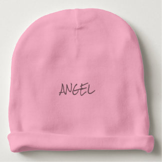 "Baby Girl ""ANGEL"" Cotton Beanie Baby Beanie"