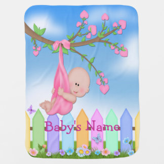 Baby Girl - Backyard Cute Baby Blanket