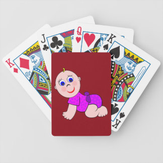 Baby Girl Bald Bicycle Playing Cards