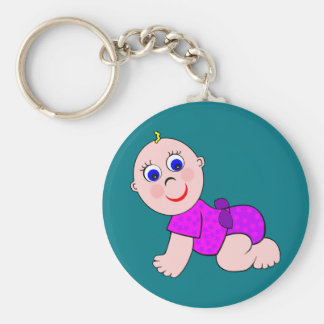 Baby Girl Bald Keychain