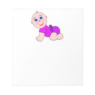 Baby Girl Bald Notepad