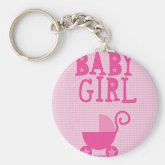 BABY Girl Basic Round Button Keychain
