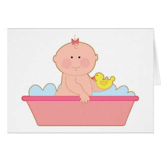 Baby Girl Bath Card