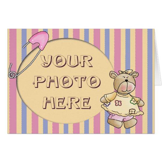 Baby Girl Bear Card
