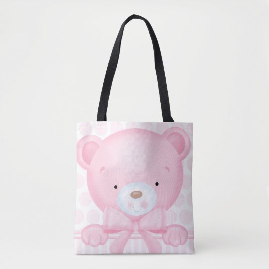 Baby Girl Bear Tote Bag