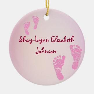 Baby Girl Birth Announcement Ornament