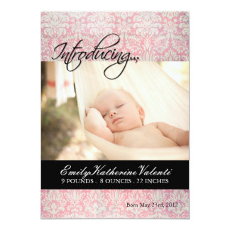 Baby Girl Birth Announcement Photo card