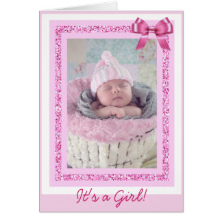 Baby Girl Birthday Announcement