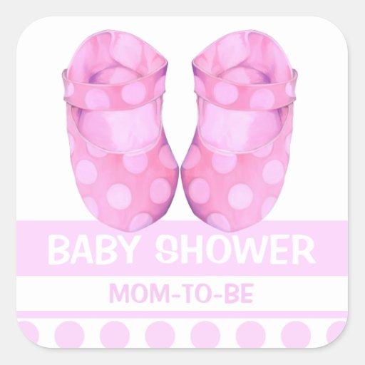 Baby Girl Booties Baby Shower Gift Sticker