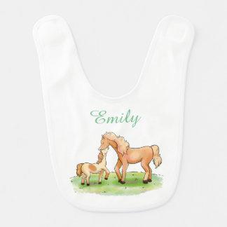 Baby Girl Boy Unisex Horse Equestrian Pony Western Bib