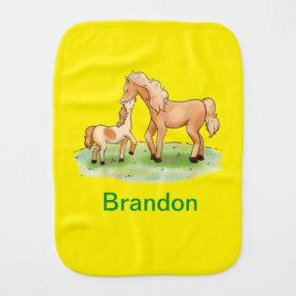 Baby Girl Boy Unisex Horse Equestrian Pony Western Burp Cloth