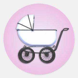 Baby Girl Buggy Sticker