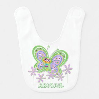 Baby Girl Butterfly Garden Custom Bib