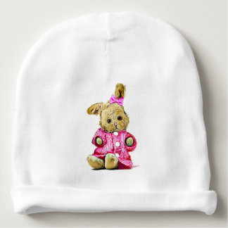 Baby Girl Cap for Newborn Pink Bunny Baby Beanie