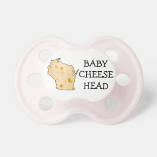 Baby Girl Cheesehead Wisconsin Humor Pink Pacifier