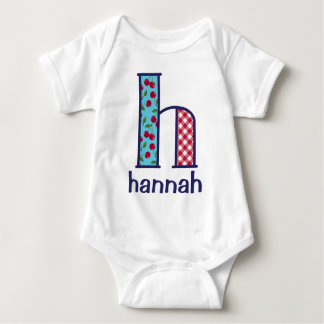 Baby Girl Cherry Bodysuit Girls Monogram Shirt H