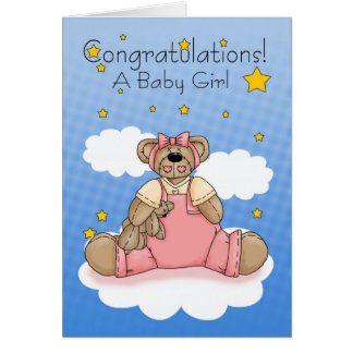 Baby Girl, Congratulations New Baby Greeting Card