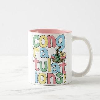 BABY (Girl) Congratulations Two-Tone Coffee Mug