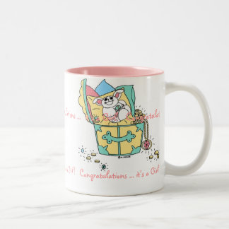BABY (Girl) Congratulations Two-Tone Coffee Mug