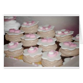 baby girl cupcakes greeting card