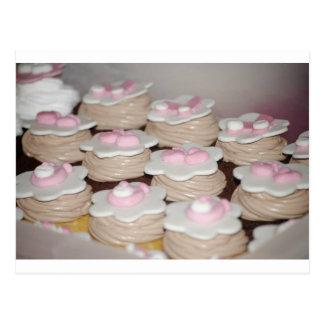 baby girl cupcakes postcard