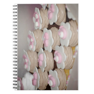 baby girl cupcakes spiral note books