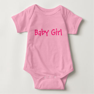 Baby Girl Customizable Pink Text on Lighter Pink Baby Bodysuit